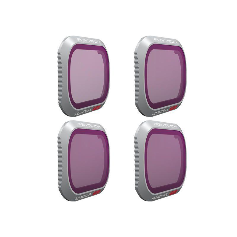 IOC US$81.79 PGYTECH Camera Lens Filter Kit Combo ND8PL ND16PL ND32PL ND64PL 4Pcs for DJI Mavic 2 Pro Drone
