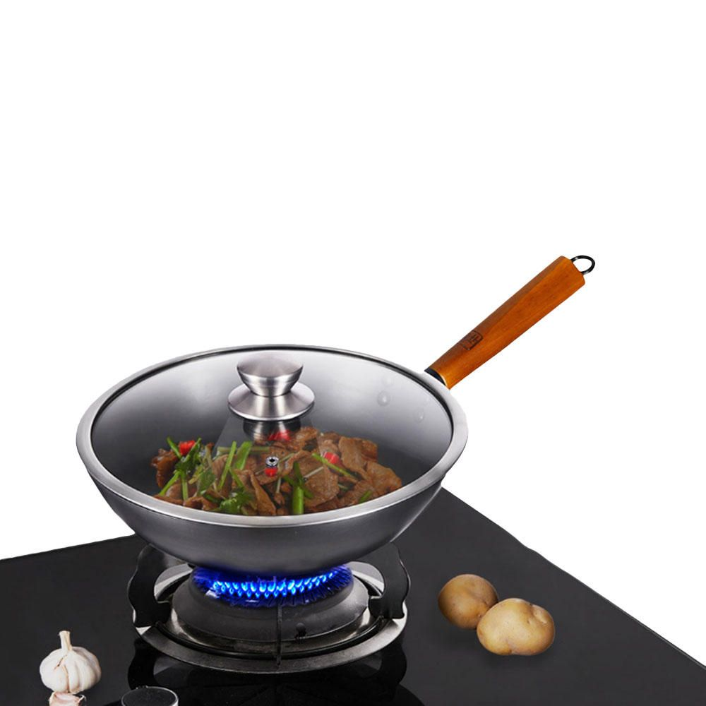 QHX US$55.91 YIWUYISHI Lightweight Stir Fry Pot Kitchen Frying Pan Cooking Tool Cookware