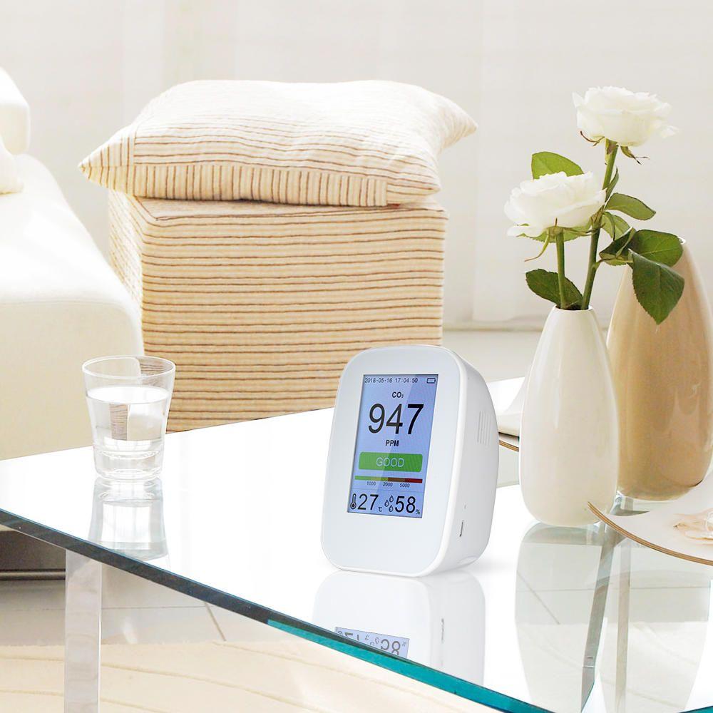 NMO US$82.80~135.80 D9-B D9-H Digital Air Quality Tester Detector Indoor/Outdoor HCHO & TVOC Detector CO2 Meter Monitor Tester USB Charging