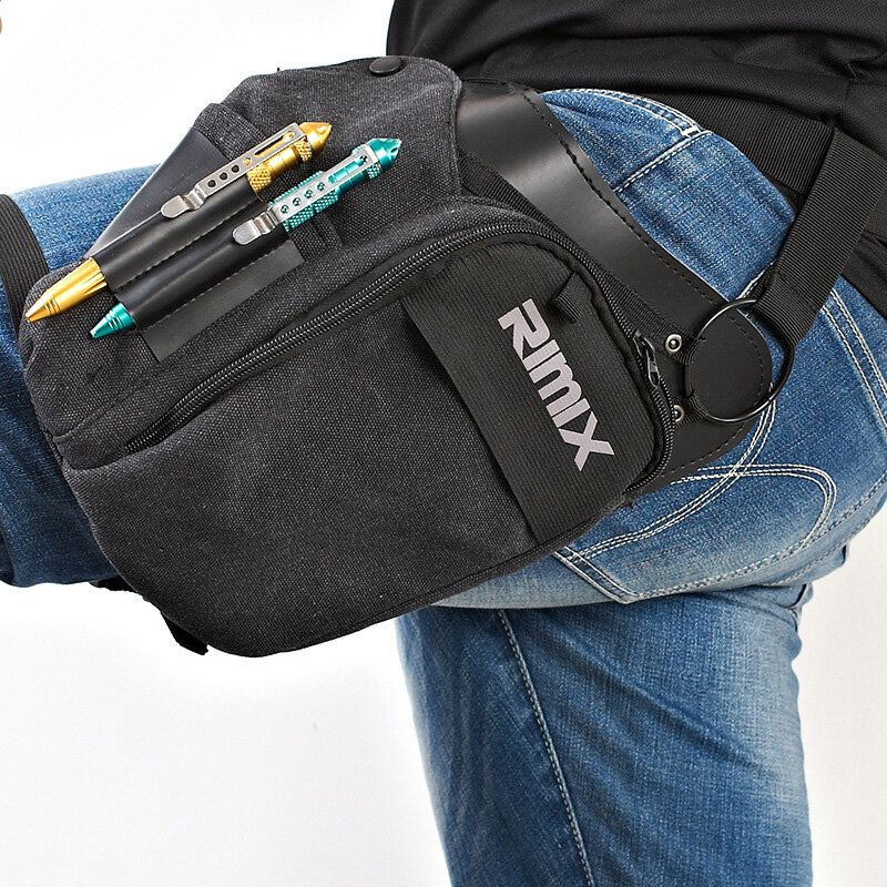 AUG US$26.02 RIMIX Multi Functional Tactical Waist Pack Waterproof Canvas Tool Bag Outdoor Cycling Fishing Bag