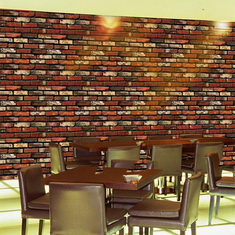 XRW US$7.54 Creative Wall Stickers Simulation Waterproof Brick 3D Effect PVC Removable Background Stickers