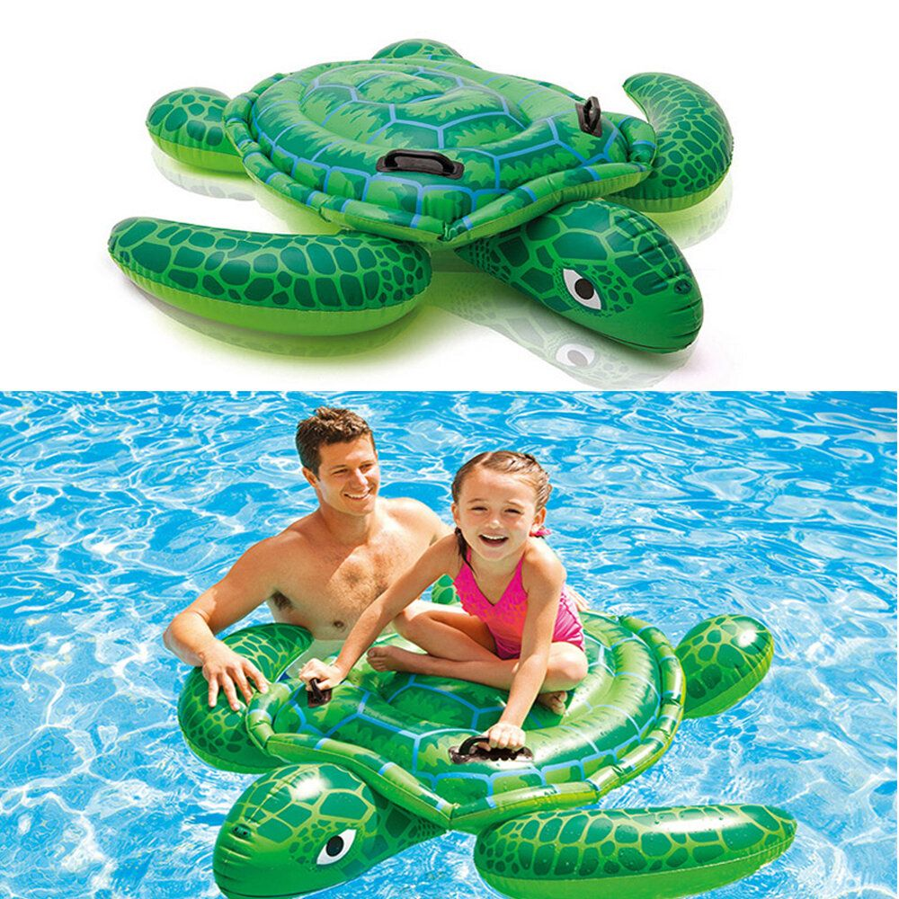 RUB US$46.79 Children Swim Ring Inflatable Turtle Cartoon Float Seat Boat Baby Water Toy