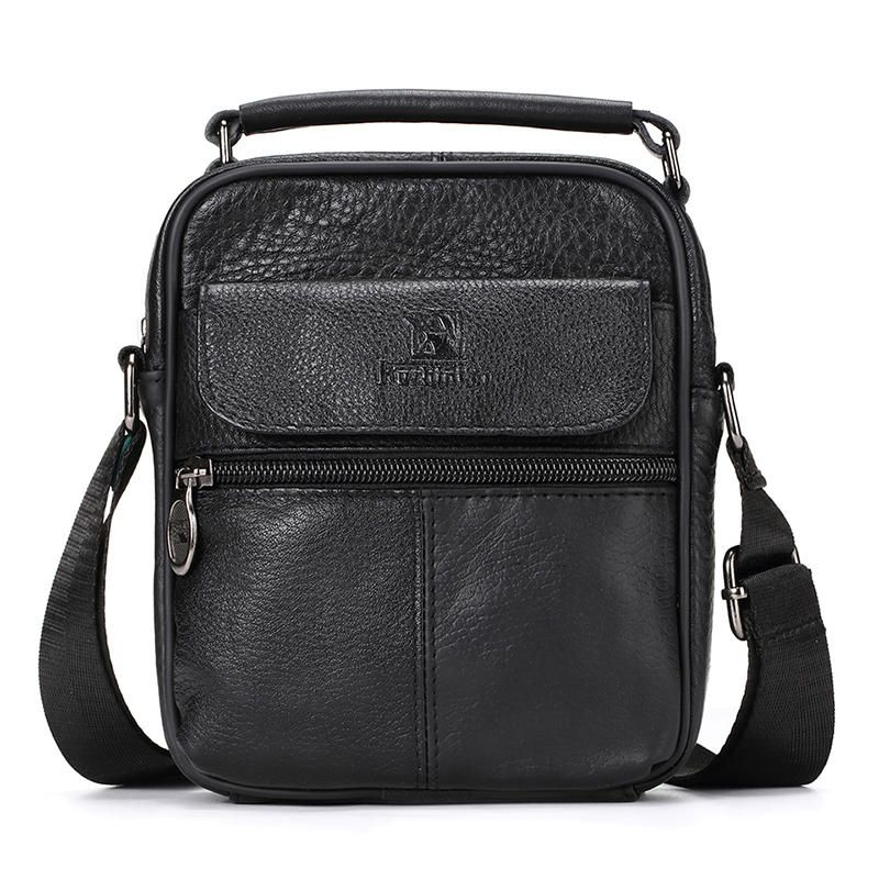 RDG US$28.46 Men Genuine Leather Messenger Bag Hot Sale Fashion Crossbody Shoulder Bags