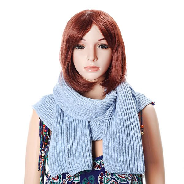 FQH US$25.57 Women Winter Soft Woolen Hooded Hat Scarves Casual Warm Knitted Conjoined Cap