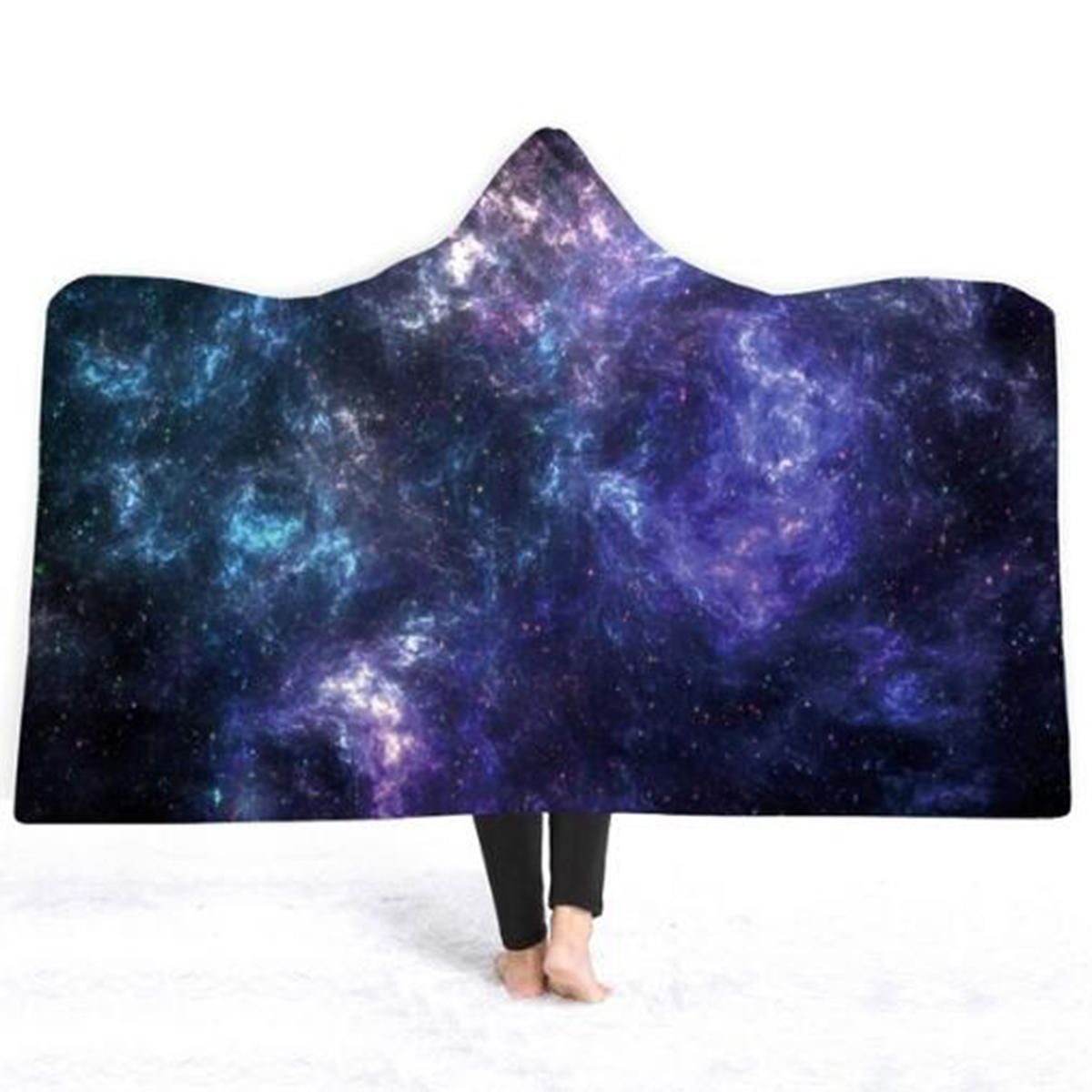 NYE US$27.25 3D Hooded Blankets Colorful Planet Warm Winter Wearable Plush Mats Nap Soft Travel Mats