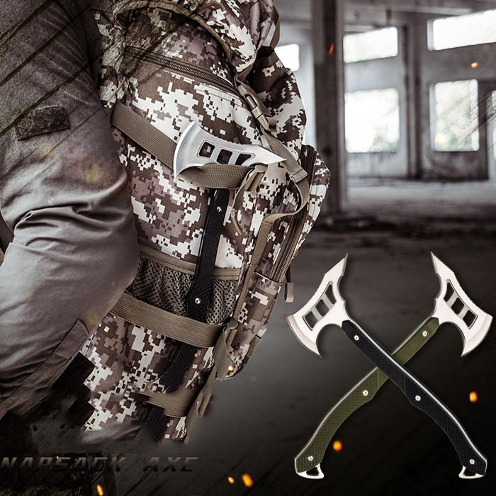 DTS US$38.97 IPRee® Camping EDC Survival Axe Emengency Backpacking Hammers Tool