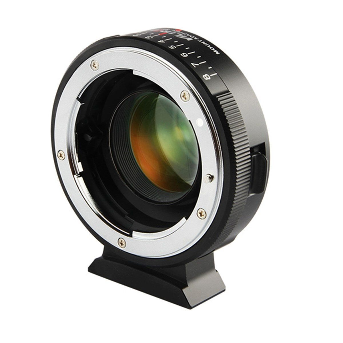 USB US$98.03 Viltrox NF-M43X Focal Reducer Speed Booster Adapter Turbo with Aperture for Nikon Lens to M4/3 Camera GH4 GH5GK GH85GK GF7GK GX7