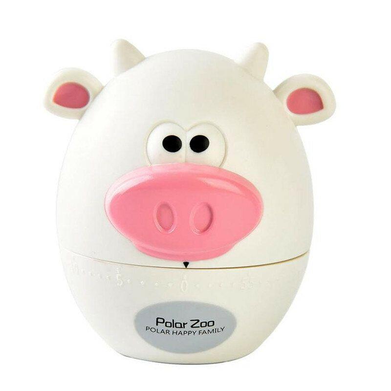 LZP US$5.71 Fashion Design Bear Cow Timer Mechanical Wind Up 60 Minutes Kitchen Gadget Mechanical Alarm Timer