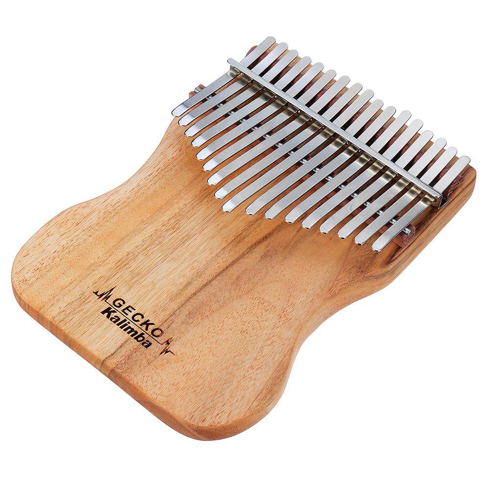 UCK US$37.43 GECKO K17CAP 17 Keys Kalimba Camphorwood Thumb Piano Finger With Tuning Hammer