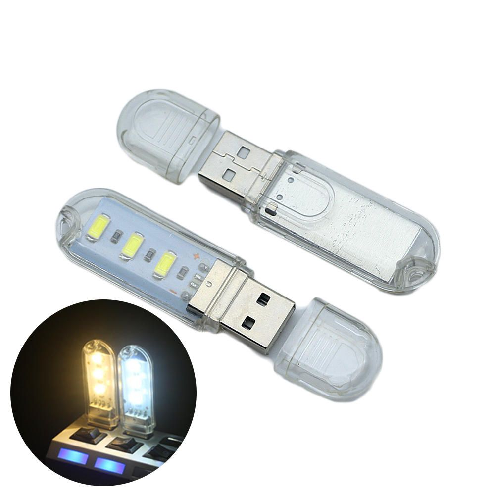 BEP US$3.20 U16 3 x LEDs 120Lumens USB Rechargeable Portable USB EDC LED Flashlight Work Light