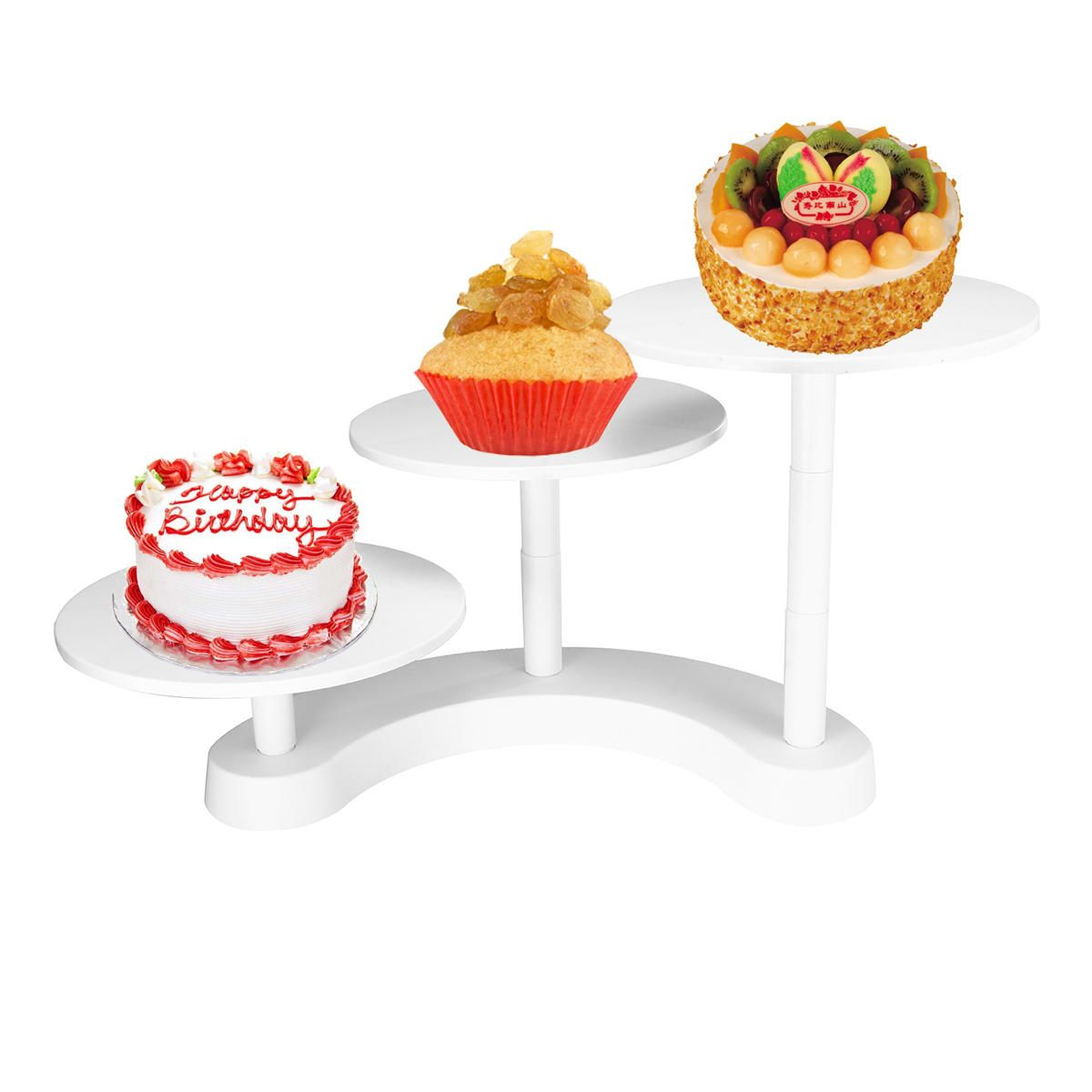 HVH US$30.33 White 3 Tiers Cake Stands Plastic Cupcake Dessert Wedding Birthday Party Display Decorations