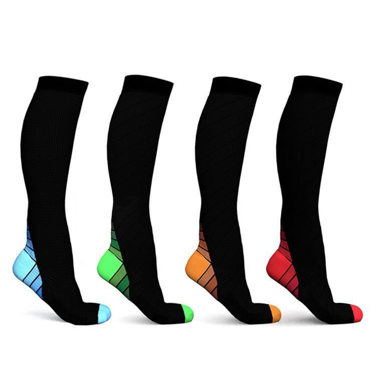 RAU US$7.26 Knee High Stocking Sport Football Socks Leg Support Stretch Compression Socks Active School Team Socks