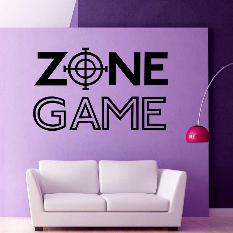 CEU US$5.18 Wall Room Decor Art Vinyl Sticker Mural Decal Game Zone Home Decor Kids Room Wall Stickers Big Large Home Living Room Kitchen Decor Wall Stickers
