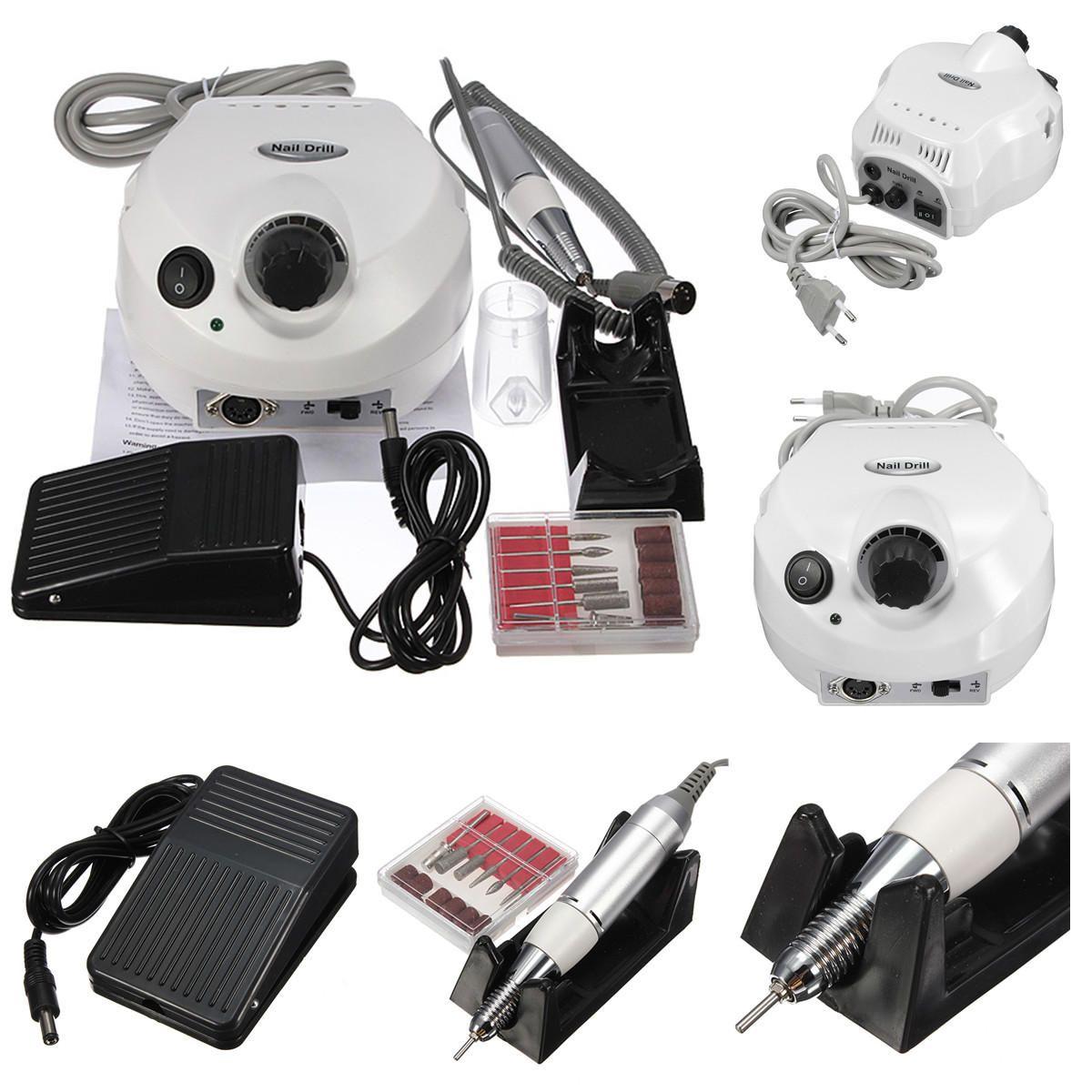 BYT US$55.47 AC 100-240V 15W Professional 30000RPM Manicure Electric Drill File Nail Art Pen Machine Kit Set