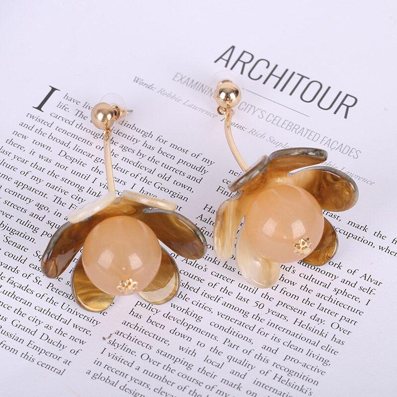 JON US$28.24 Acrylic Fashion Flowers Earrings Ear Stud Eardrop Gift for Women