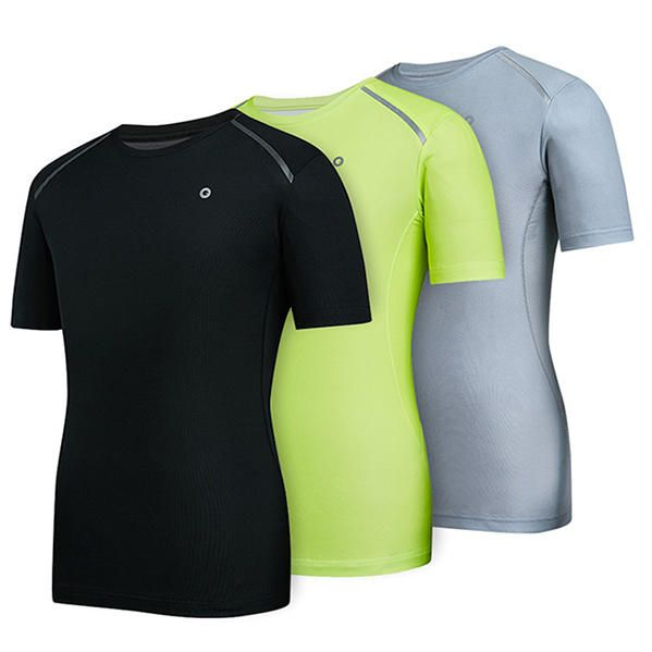 DVE US$45.77 AMAZFIT Men Sport Single Guide Fast Drying Breathable Sweat Absorption Comfortable T-shirts From Xiaomi Youpin
