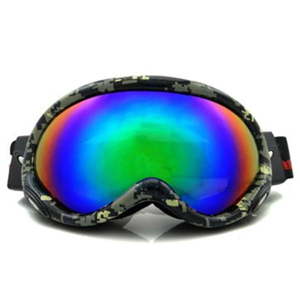 ZCF US$25.23 Electroplating Anti Fog Ski Goggles Fitted With Glasses Windproof Waterproof Climbing Goggles