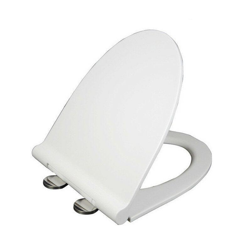 BBD US$51.49~54.49 Mrosaa Universal Thicken Slow-Close U Type Toilet Seat Covers Set PP Board White Antibacterial Lid