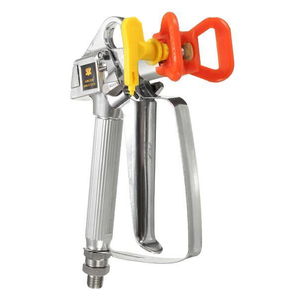 ZVU US$26.24 3600PSI Red High Pressure Airless Paint Spray Gun With Yellow Spray Tip