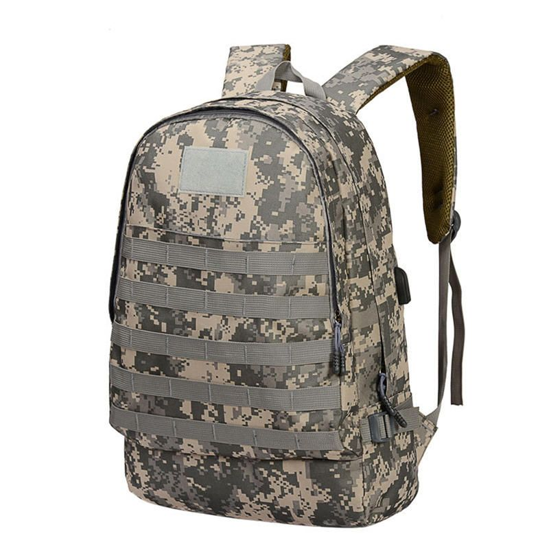 LDN US$38.16 T0065 Oxford Tactical Bag Backpack With USB Charging Port Big Capacity PUBG Outdoor Hiking Climbing Bag Fishing Bag