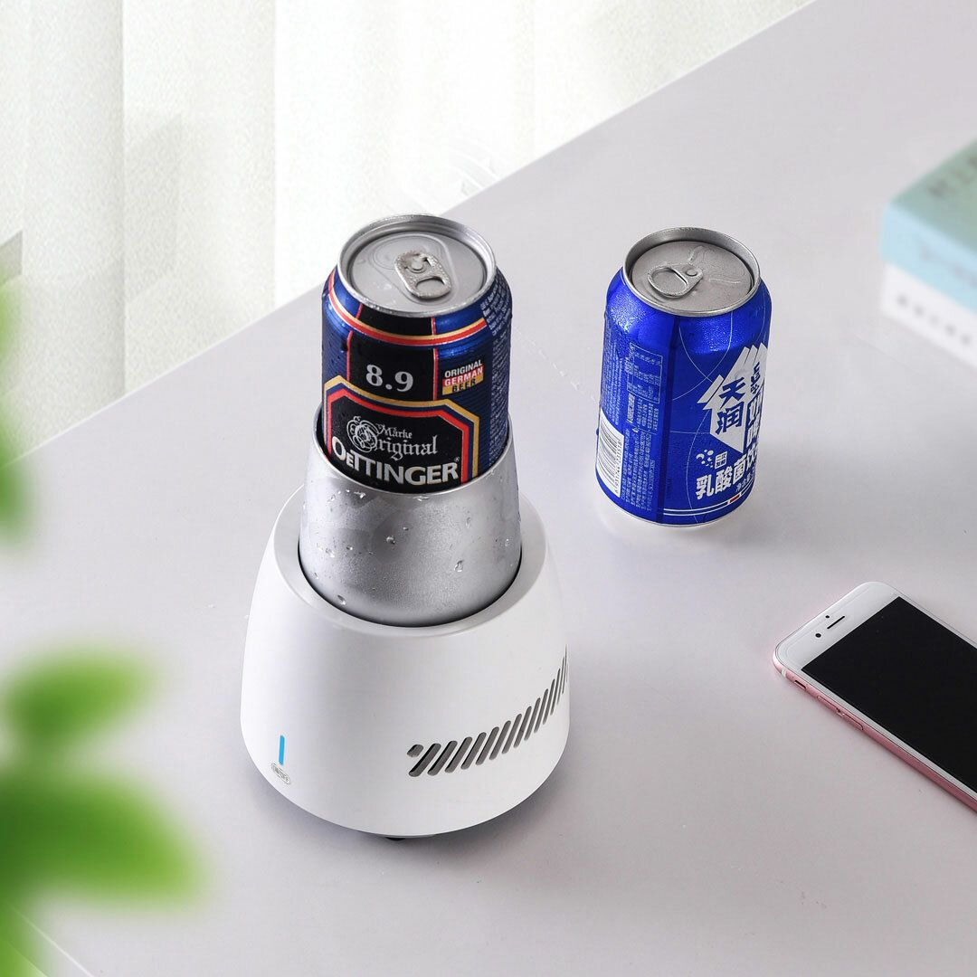 OZG US$54.60 Smart Touch Control Fridge Drink Cooler Cup Quick Frozen Drink Cooler Portable Mini Refrigerator for Drink Rapid Cooling 350ML
