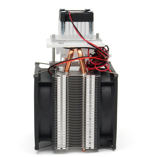 DWV US$54.28 12V DIY Semiconductor Refrigeration Thermoelectric Peltier Air Cooling Machine Device