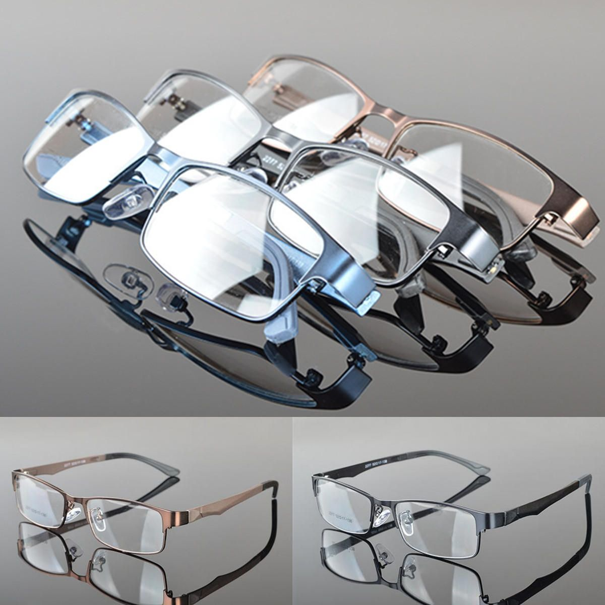 TDZ US$5.99 Fashion Metal Full Rim Eyeglasses Frame Glasses Spectacles Optical Rx Glasses