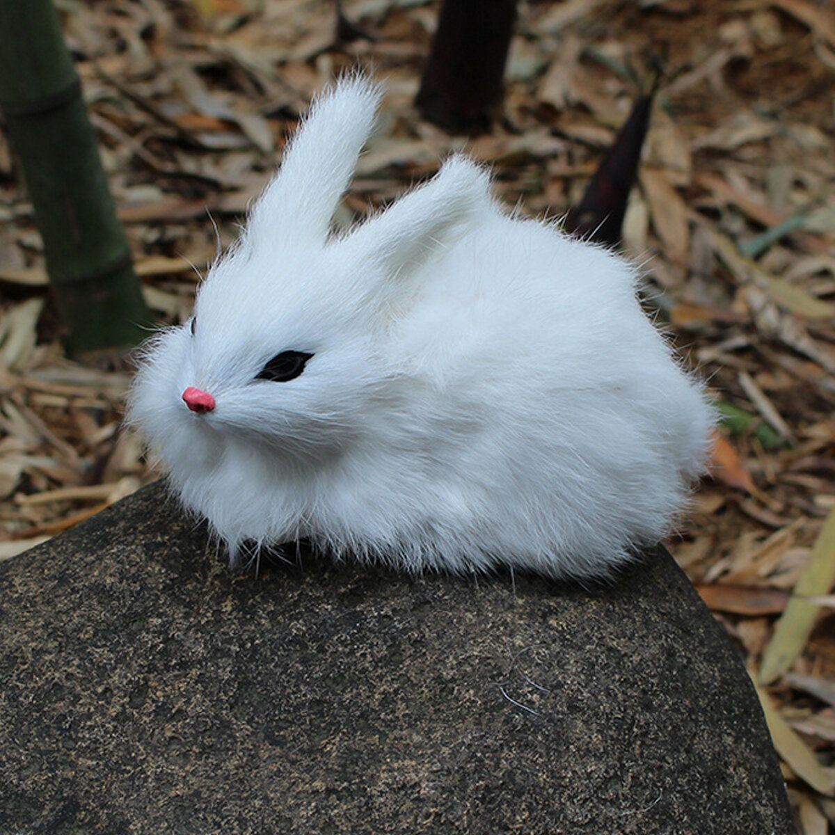 TKY US$4.82 15cm Mini Realistic Cute White Plush Rabbits Fur Lifelike Animal Furry Easter Bunny Stuffed Plush Toy