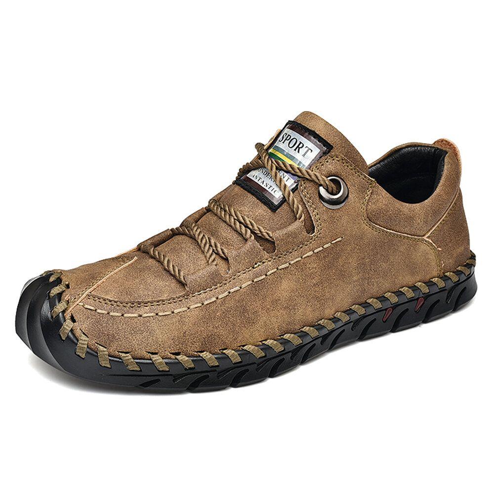 KUR US$61.39 Men Vintage Protective Toe Cap Leather Casual Flats