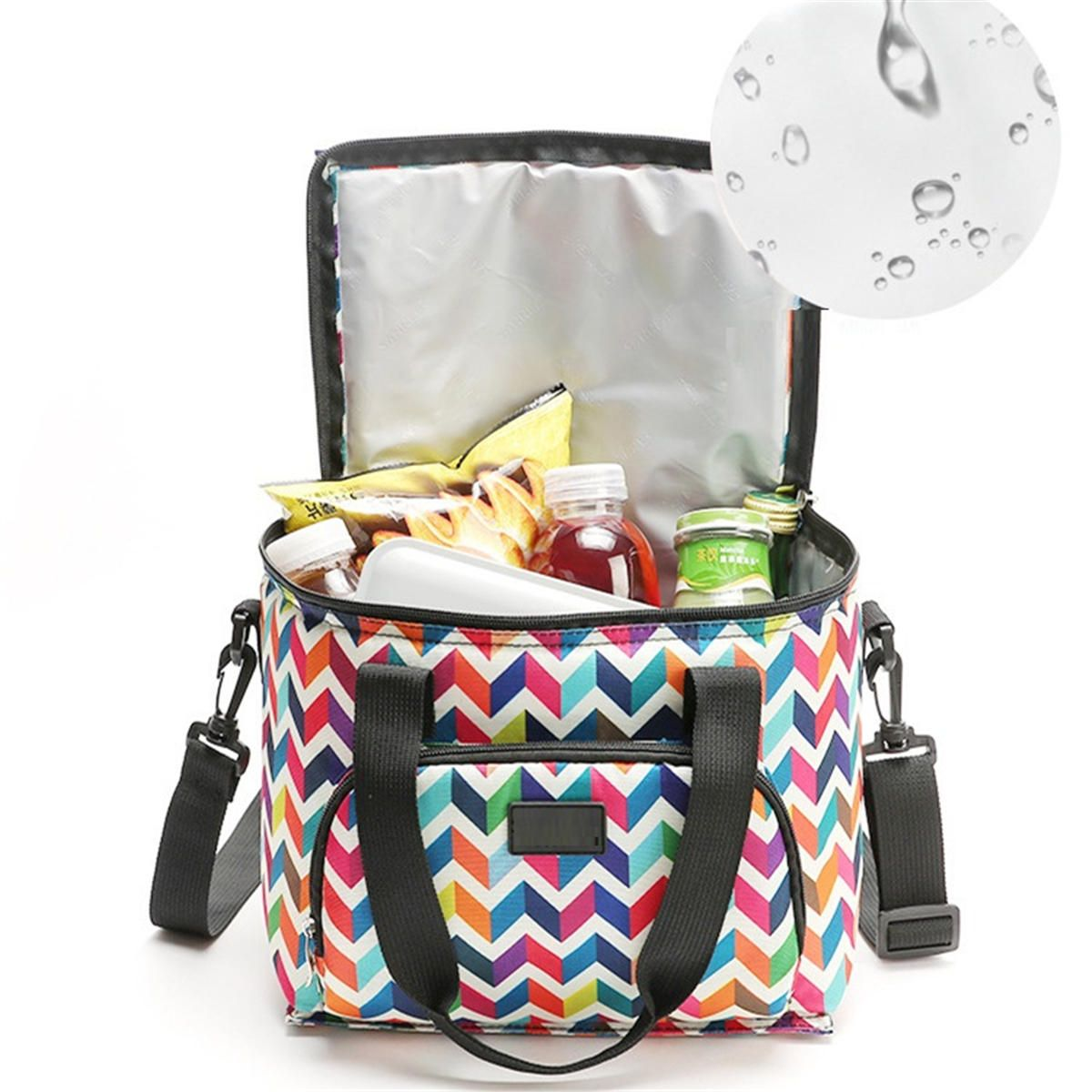 IDH US$10.96 10L Picnic Bag Thermal Insulated Thermal Cooler Insulated Tote Lunch Food Container BBQ Storage Box