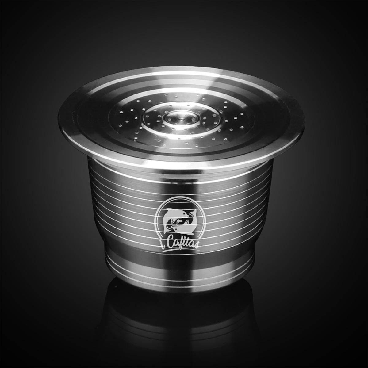 SEJ US$12.96  Stainless Steel Coffee Capsule Cup Reusable Refillable Kit For Nespresso U Machine