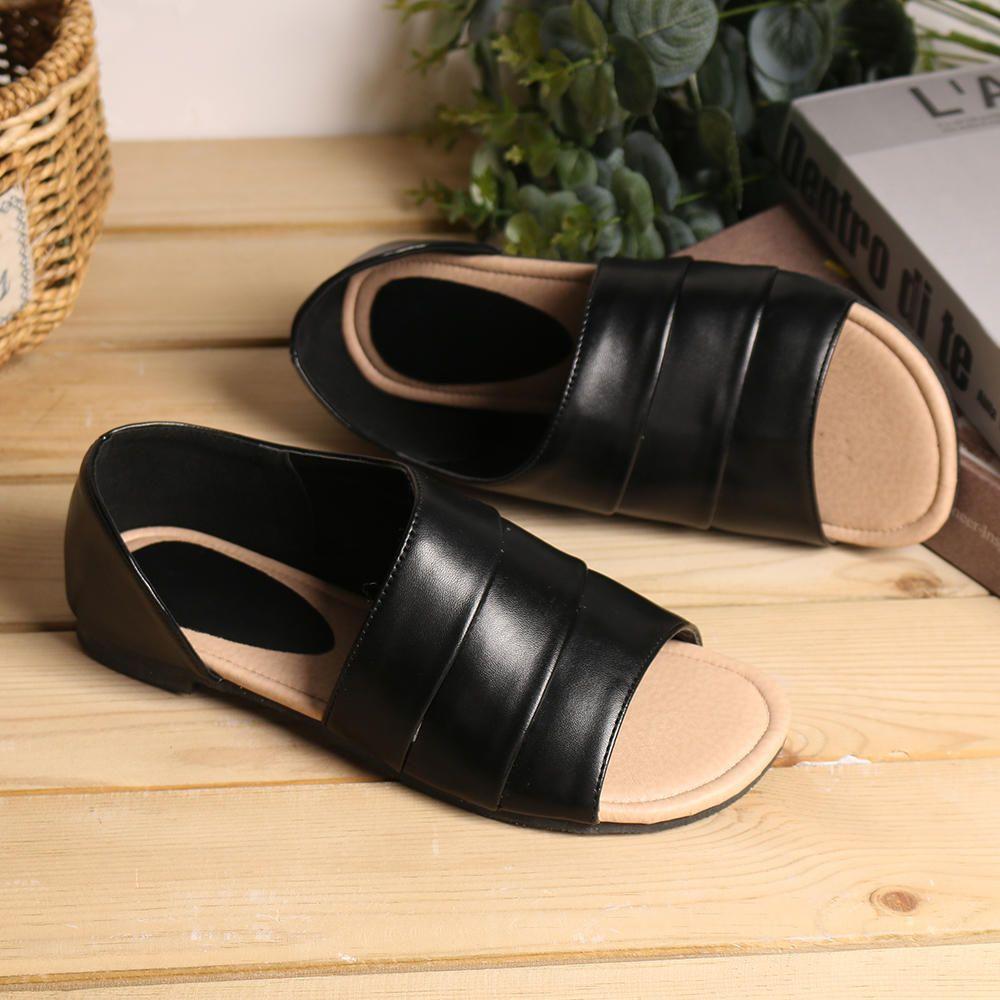 JPL US$37.35 Large Size Women Casual Summer Open Toe Slip On Sandals