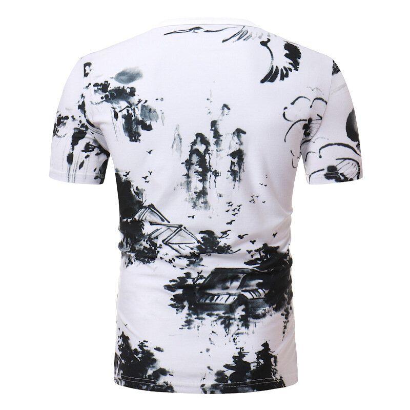BPC US$29.99 Men's Casual China Style Printing Short-Sleeve T-Shirts Fashion Breathable Tops Tees