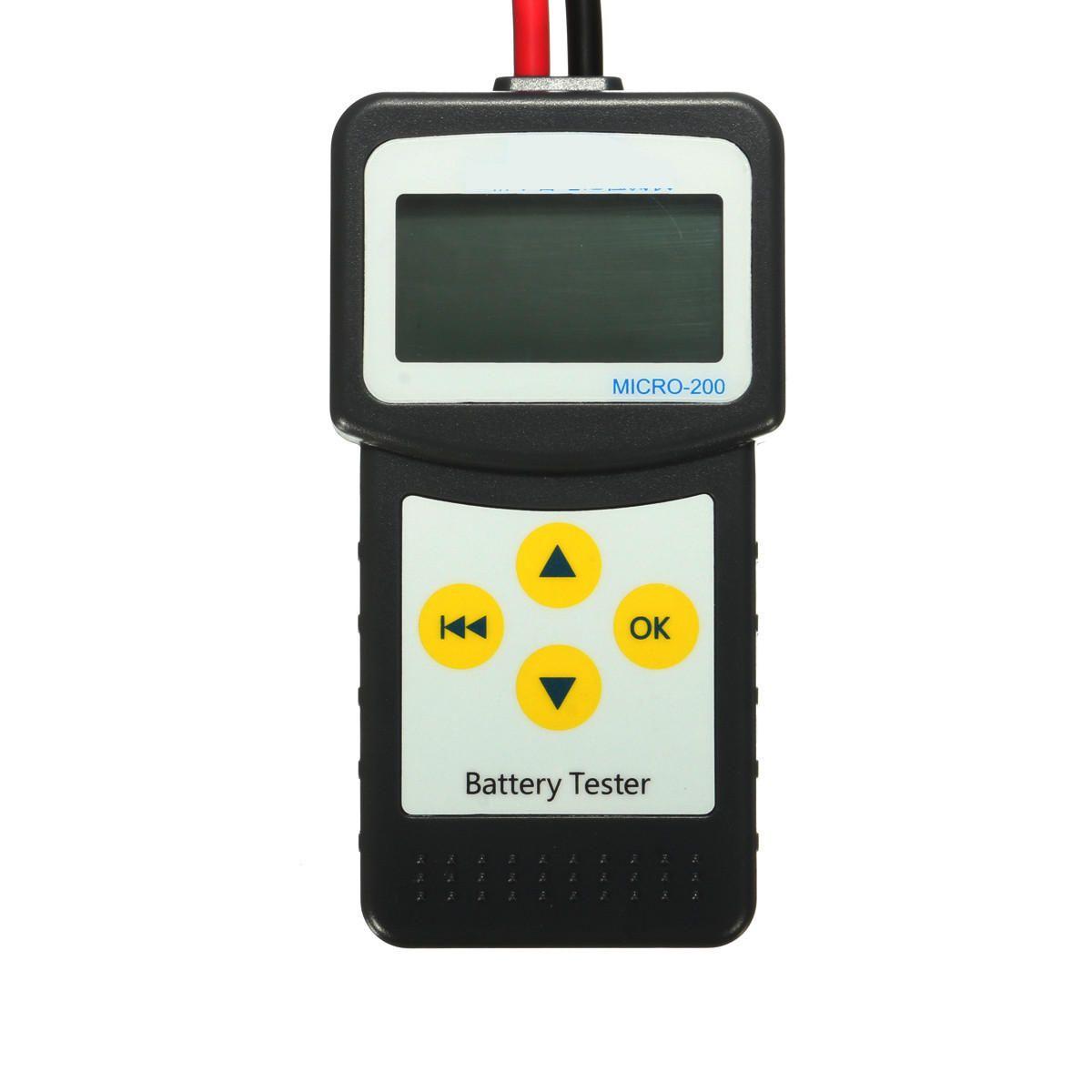XYD US$50.99 12V Car Battery Tester Automotive Vehicle Battery Analyzer AGM GEL MICRO-200