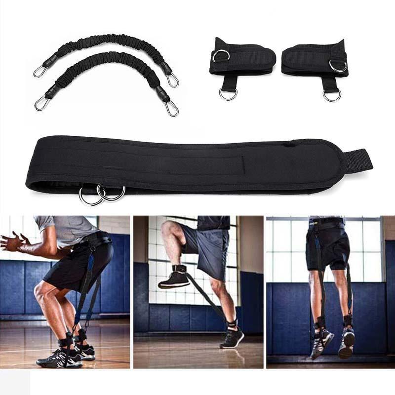 SCO US$24.22 KALOAD 30lb Elastic Pull Rope Waist Belt Bouncing Training Set Sports Resistance Bands for Pilates Gym Yoga Fitness