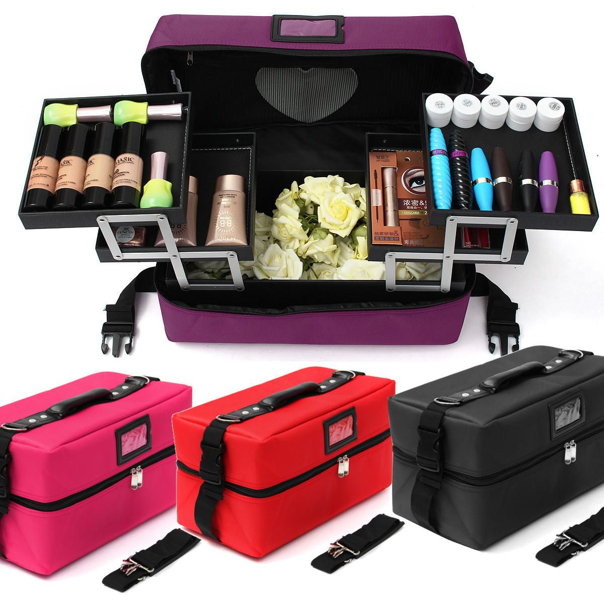 NRT US$143.92 Makeup Cosmetic Organiser Case Jewellery Storage Trinket Zipper Box Holder