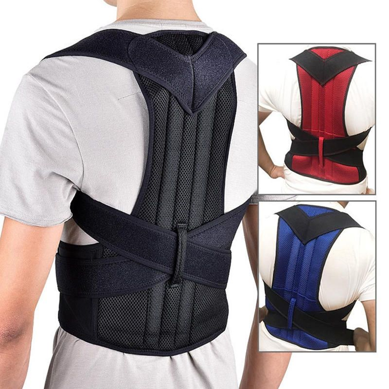 TZH US$12.58 Xmund XD-069 Back Support Protection Back Shoulder Posture Pain Relief Correctorbelt Strap Reinforcement Orthosis Support Fixation Belt Humpback Correction