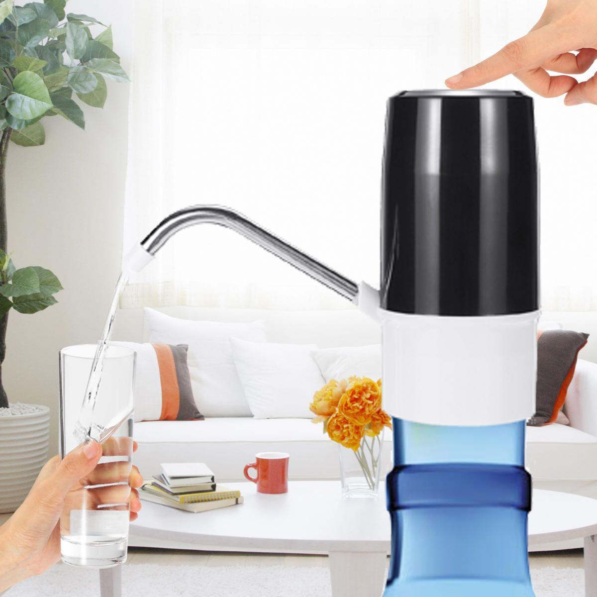 DDV US$11.61 Wireless Automatic Electric USB Water Pump Dispenser Gallon Drinking Water Bottle Switch