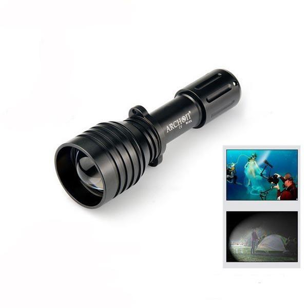 JXK US$49.17 ARCHON D10U  U2 860LM 60M Diving LED Flashlight