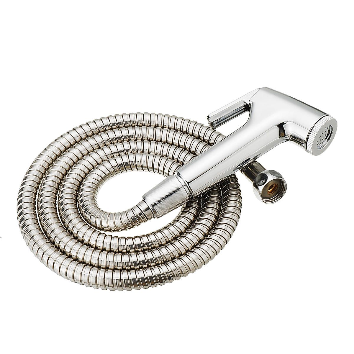 DEN US$4.79 ABS Bathroom Portable Bidet Sprayer Handhold Toilet Bidet Shower Head Sprayer for Personal Hygiene w/ 1.5m Stainless Steel Hose