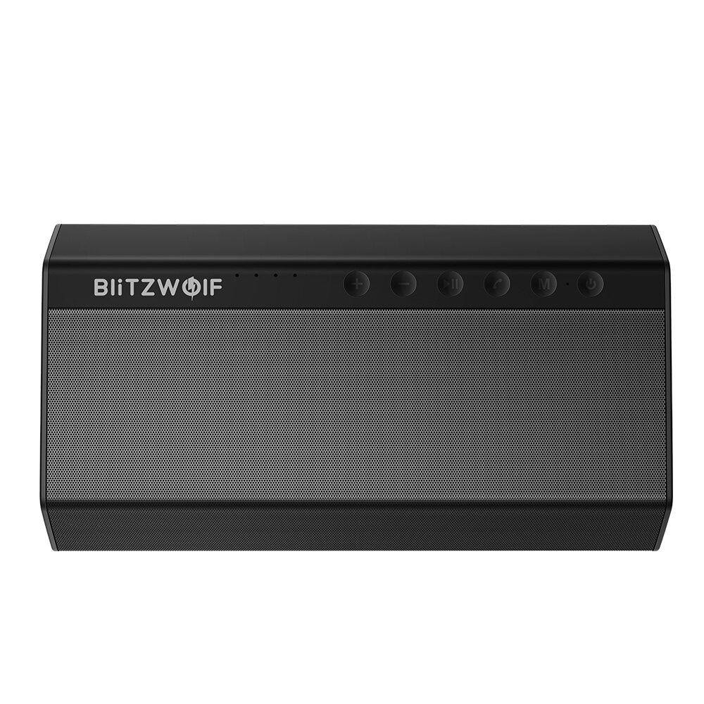 VAX US$71.39 BlitzWolf® BW-AS2 40W 5200mAh Double Driver Wireless bluetooth Speaker 30W Strengthened Upward Bass Hands-free Aux-in Speaker