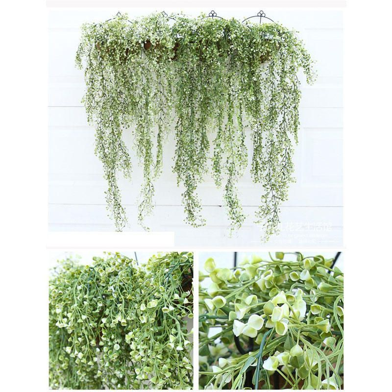TPV US$4.99 Simulation Rattan Plant Flower Artificial Fake Flower Living Room Wall Decorations Home Decor