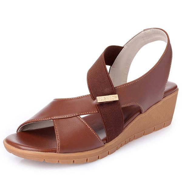 TZD US$46.74 Large Size Wedge Casual Fish Mouth Sandals