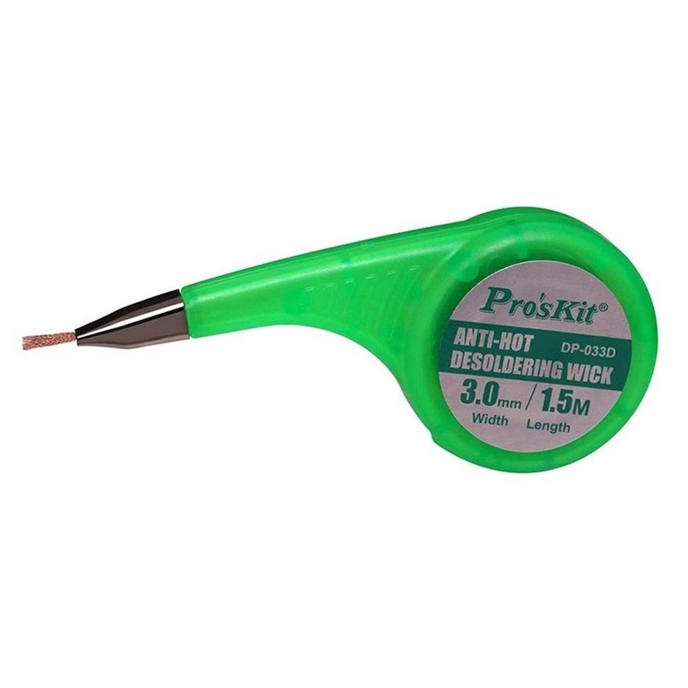 YZN US$4.99 Pro'sKit Anti-Hot Desoldering Wick BGA Braid Copper Wire Solder Remover 1.5mm 2mm 2.5mm 3mm Width