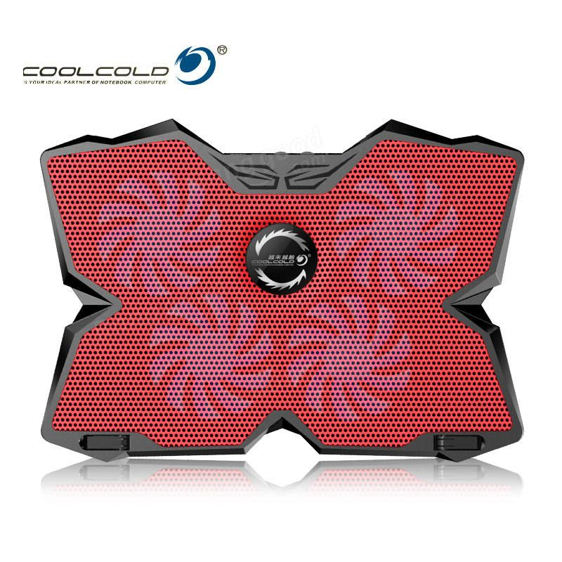 ZNF US$37.15 CoolCold Ice Magic 2 Notebook Cooler 4 Fan 2 USB LED Laptop Cooler Cooling Pad Computer Stand