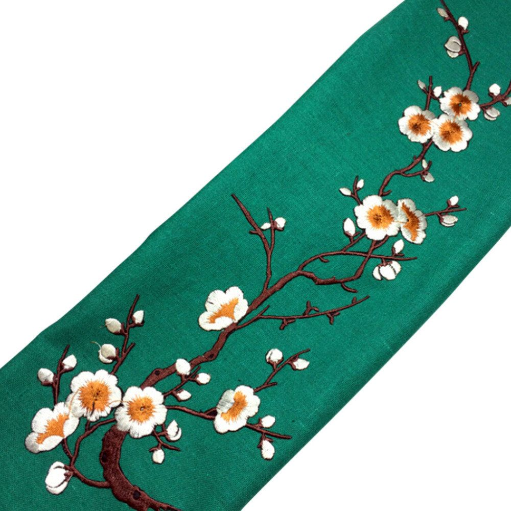VNJ US$4.14 Plum Blossom Flower Applique Clothing Embroidery Patch Fabric Sticker Iron On Patch Sewing Repair