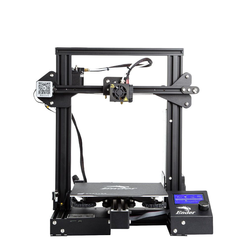 LRQ US$209.99 Creality 3D® Ender-3 Pro Prusa I3 DIY 3D Printer 220x220x250mm Printing Size With Magnetic Removable Platform Sticker/Power Resume Function/Off-line Print/Patent MK10 Extruder/Simple Leveling
