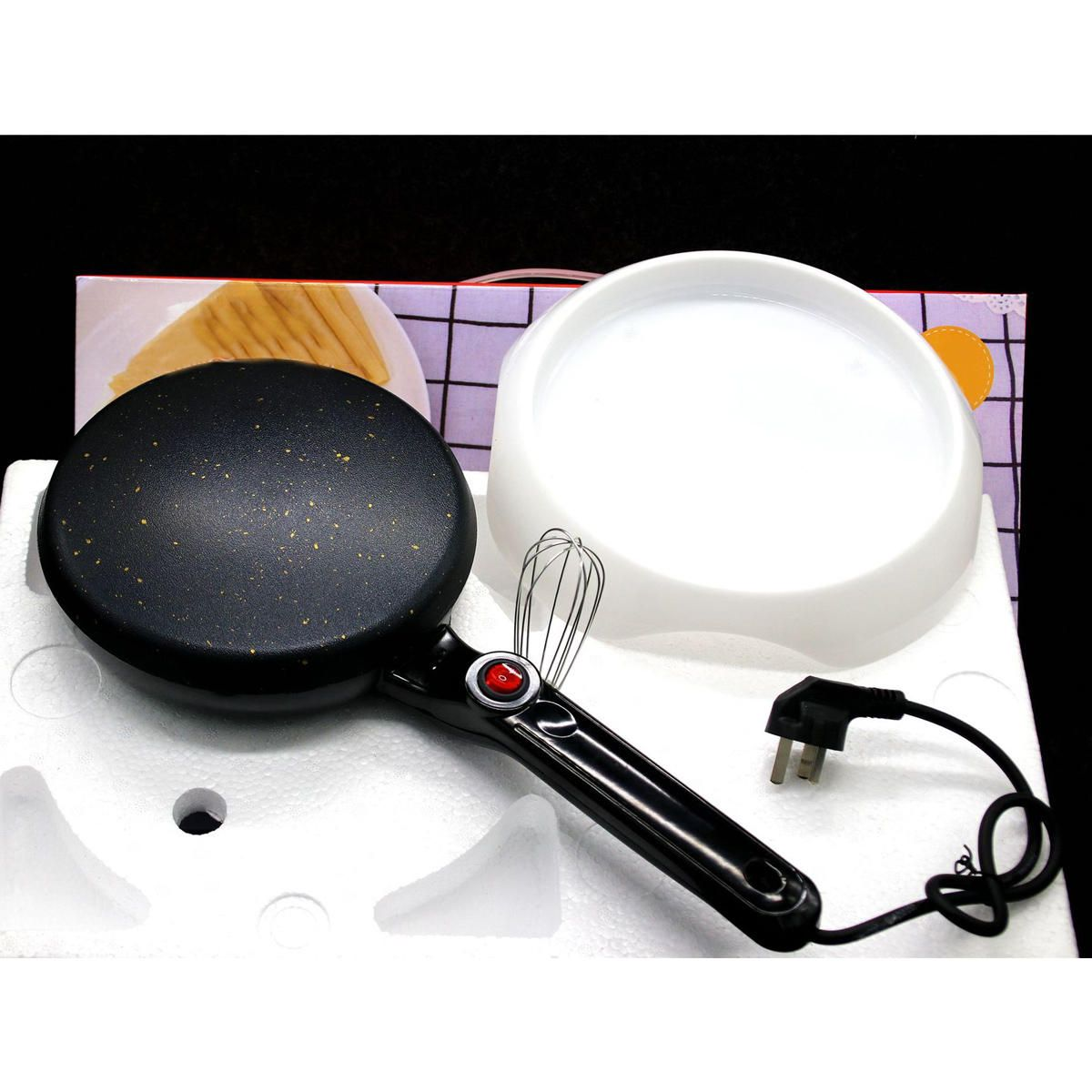 UCG US$23.88 600W Kitchen Electric Griddle Pancake Baking Crepe Maker Cake Pan Pizza Machine
