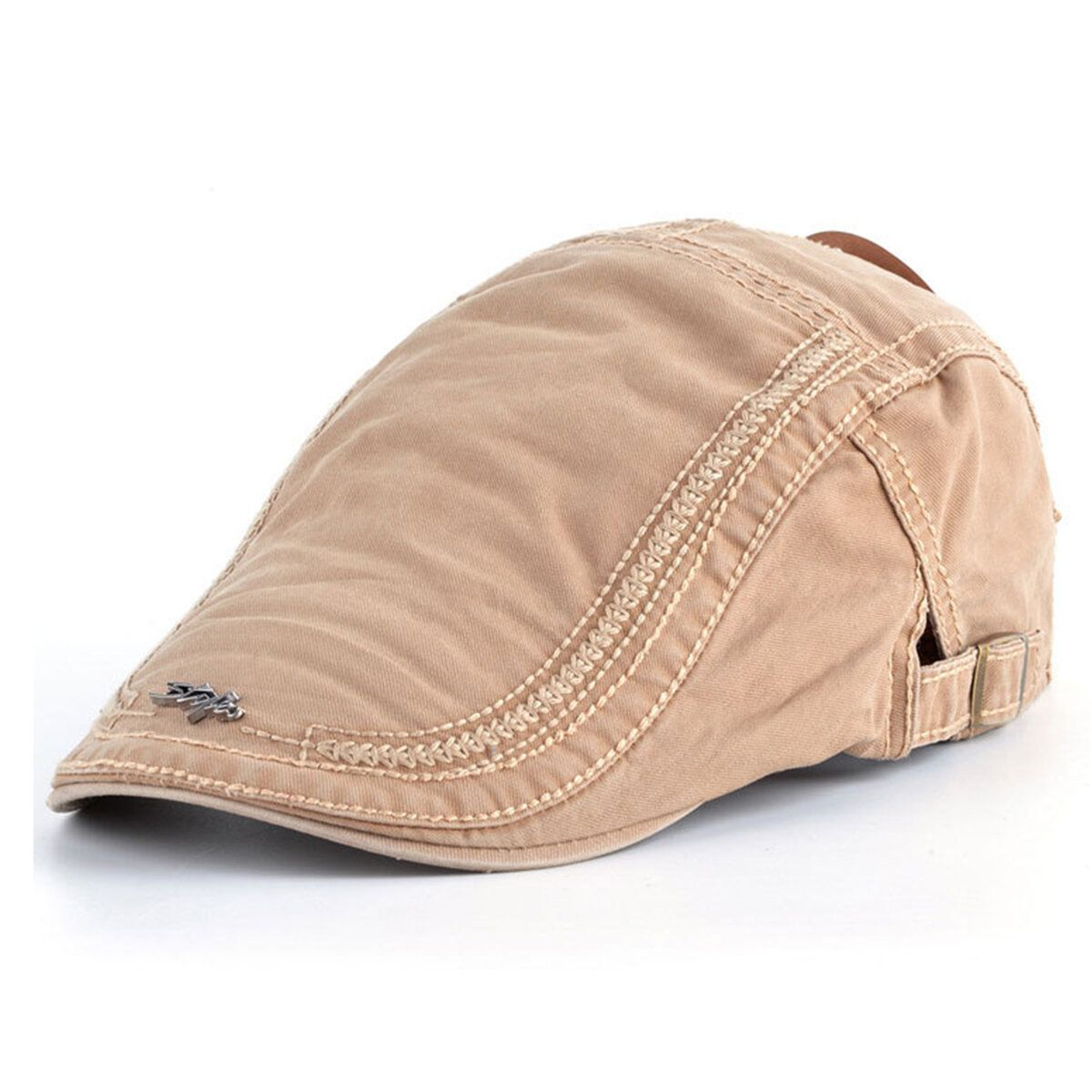 TII US$7.89 Mens Cotton Berets Caps Embroidery Painter Casual Outdoor Visor Forward Hat