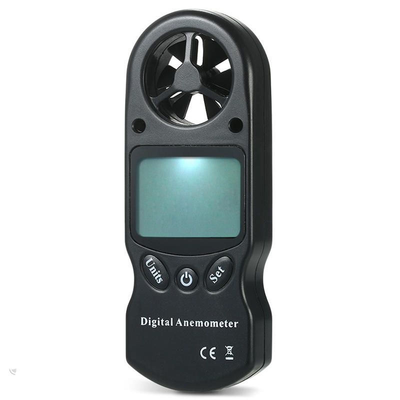 RVV US$9.97 3 in 1 Handheld Digital Anemometer Wind Speed Meter Thermometer Hygrometer Temperature & Humidity Tester with LCD Backlight